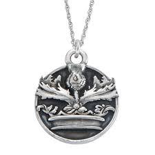 outlander crowned thistle necklace by rocklove u2013 outlander store