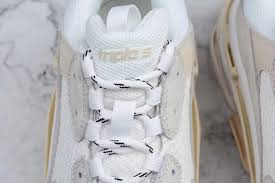 balenciaga triple s trainer all white on sale outlets online