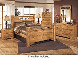 amazon com bittersweet queen bedroom set with poster bed dresser