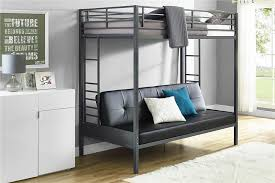 dhp furniture jasper premium twin over futon bunk bed with black