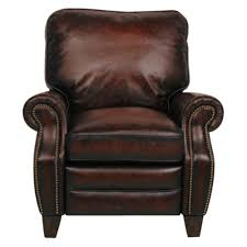 Recliners That Don T Look Like Recliners Barcalounger Briarwood Ii Leather Recliner With Nailheads