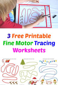 3 free printable fine motor tracing worksheets christmas themed