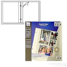 magnetic pages photo album holson burnes easystik magnetic post bound album refill pages