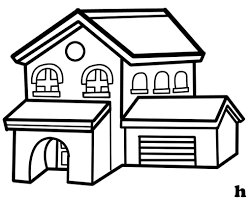 free simple black and white house clip art image 986 house