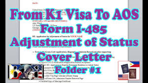 aos form i 485 adjustment of status cover letter green card