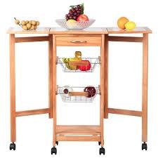 kitchen storage island cart portable rolling drop leaf kitchen storage island cart trolley