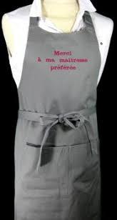 tablier cuisine personnalisé tablier de cuisine personnalisé l atelier de pirouette