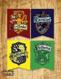 oversized harry potter printable hogwarts house crest banners