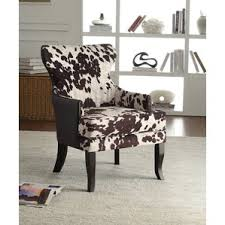 Cowhide Upholstery Animal Print Accent Chairs You U0027ll Love Wayfair