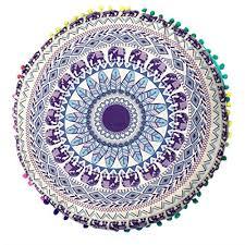 cuscini rotondi federa landfox cuscini indiani pavimento di mandala cuscini