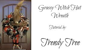 Halloween Wreath Tutorial by Grassy Witch Hat W Legs Halloween Wreath Tutorial Youtube
