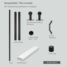 Barn Door Slider Hardware by Jeld Wen 84 In Designglide Matte Black Soft Close Barn Door