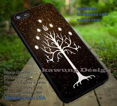 white tree of gondor in black gold glitter iphone 6s 6 6s 5c 5s
