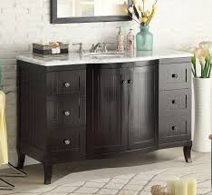 Bathroom Vanities Beach Cottage Style by 49 Inch Bathroom Vanity Cottage Beach Style Beadboard Espresso