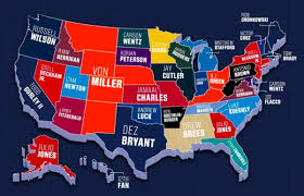 Nfl Coverage Map Map Reveals This Year U0027s Most Popular Nfl Jerseys By State Gomn