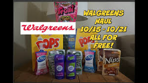 walgreens haul 10 15 10 21 everything for free youtube