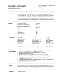 sample executive resume 8 examples in word pdf