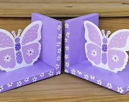 personalized bookends baby butterfly bookends etsy