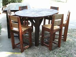 rustic pub table and chairs handmade rustic log furniture 48 x 36 tall pub table with leaf