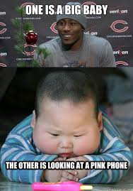Baby On Phone Meme - big baby brandon marshall memes quickmeme