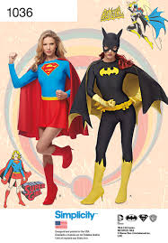 supergirl halloween costumes simplicity 1036 misses u0027 supergirl and batgirl costumes