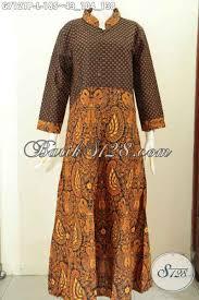 desain baju batik halus desain baju batik gamis wanita terkini abaya batik elegan motif