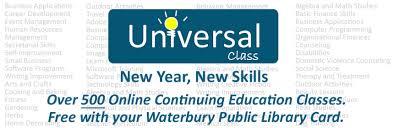universal online class universal class free online continuing education waterbury