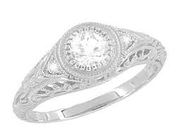 vintage white gold engagement rings antique jewelry mall