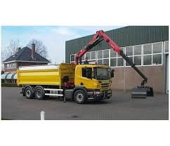 grab cranes on tippers m serie epsolution
