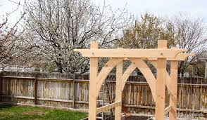 wedding arch plans free garden arbor diy plans