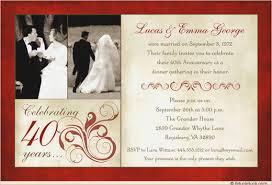 40th anniversary invitations 40th wedding anniversary invitation templates wedding invitation