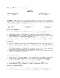 Skills Example On Resume by Skills Oriented Resume Resume For Your Job Application