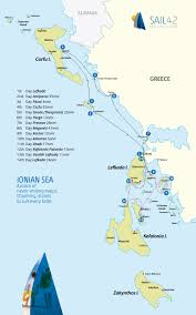 Ithaca Greece Map by Ionian Sailing Sail42