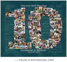 10 year anniversary gift ideas 20x24 with 151 photos 10 year anniversary collage website