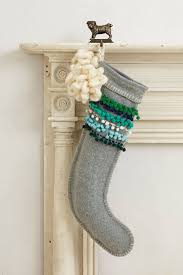 pom stitched stocking anthropologie com christmas