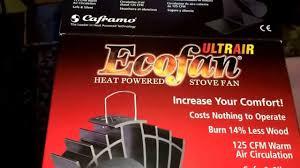 ecofan wood stove fan caframo ecofan ultrair review for wood stove works on heat alone