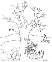 kids in the winter coloring pages winter coloring pages of