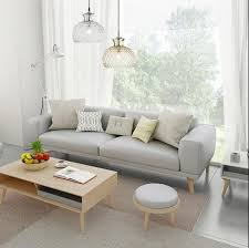 Leather Sofa Small Nordic Small Apartment Leather Sofa Cowhide Solid Wood Leather