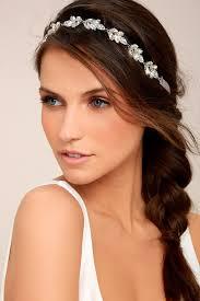 rhinestone headband silver headband rhinestone headband bridal headband