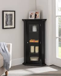 how to make corner cabinet brand furniture corner curio storage cabinet with glass door black finish