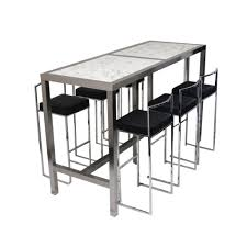 rectangle high top table long rectangular high top bar table and 6 upholstered stools