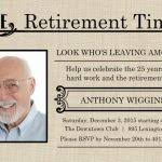 retirement flyers valo
