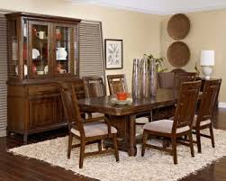 Broyhill Estes Park Pc Rectangular Trestle Dining Set In Dark Oak - Broyhill dining room set