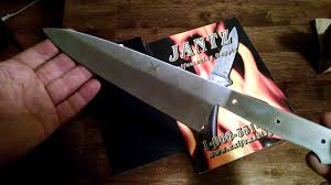jantz irt 8 chefs knife blank youtube