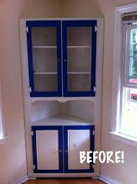 a nice paint makeover for a knotty built in china cabinet all