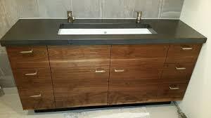 Concrete Vanity Walnut Vanity U0026 Concrete Countertop By Kwit Lumberjocks Com