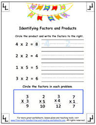 how to do multiplication factors u0026 products worksheets