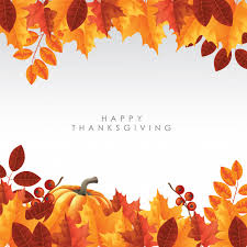 happy thanksgiving background theme vector premium
