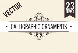 get 600 vector calligraphic ornaments page decorations bonus