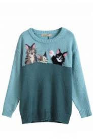 vintage cat sweater my daughter madie realllly loves this my
